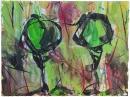 Tinta-carbón-acuarela 15 x 20 cm 2011