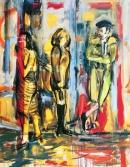 Óleo sobre lienzo  19 x 130 cm 1995